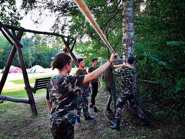 Jaunųjų pasieniečių vasaros stovykla Šakiai