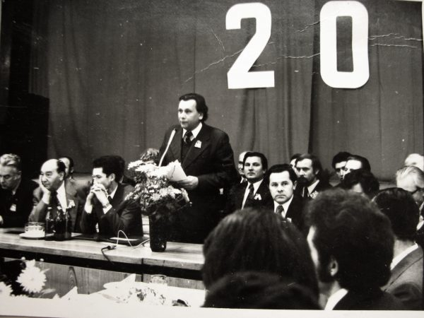 Minint SKB dvidešimtmetį kalba viršininkas V.Mickevičius