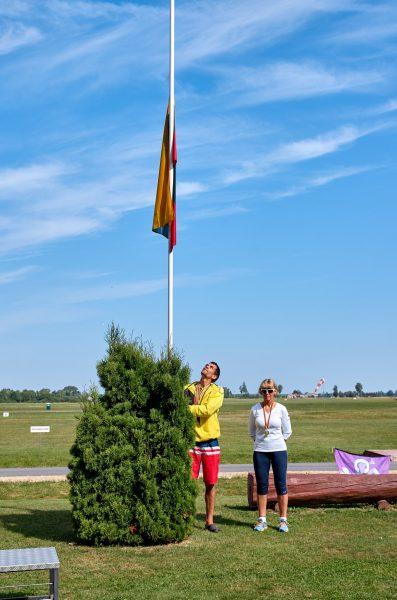 Lietuvos atviro nacionalinio čempionato absoliutūs nugalėtojai - Edgaras Danilaitis ir Vokietijos sportininkė Gerda Klostermann-Mace.q