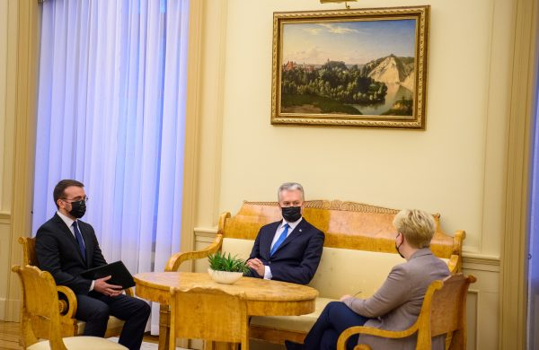 Prezidentas Gitanas Nausėda ir Ingrida Šimonytė