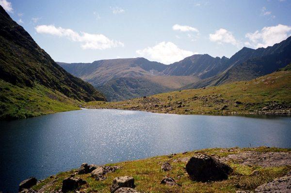 Kalnų ežeras Sajanuose