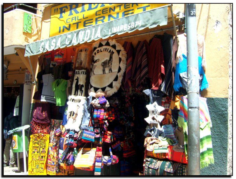Bolivija, La Pasas, gatvės turgus
