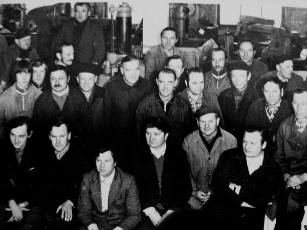 Eksperimentinio cecho darbuotojai 1980 m.