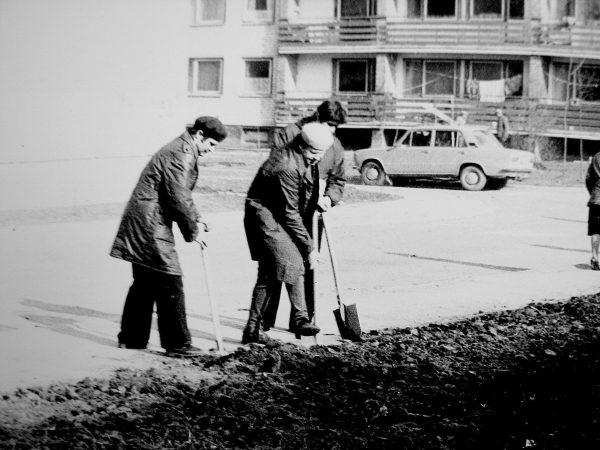 Talkinam dar naujame Degučių mikrorajone, 1974 m.