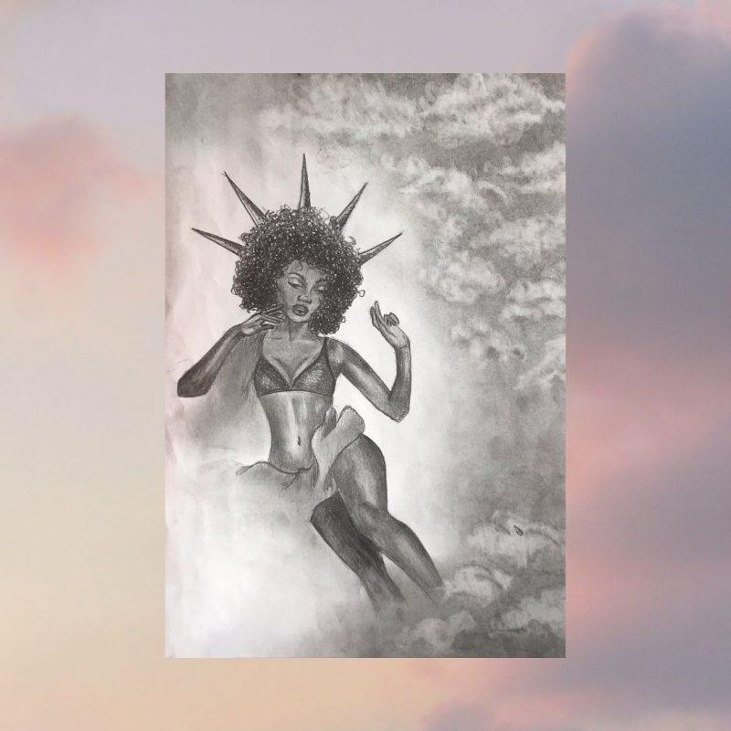 Kalvarijos gimnazijos moksleivės Viktorijos Zarembaitės piešinių paroda