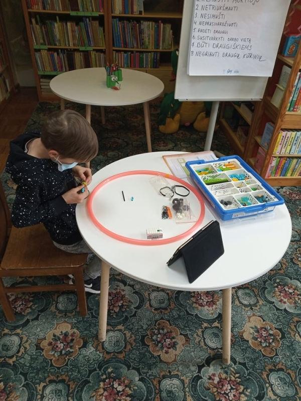 Vilkaviškio biblioteka robotika