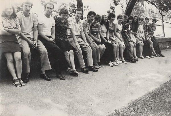 SKB jaunimo ekskursija Birštone 1975 m