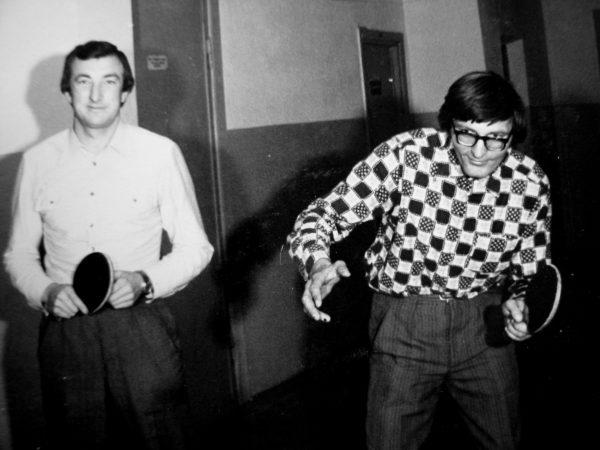 R. Uckus ir E. Zygmanta prie teniso stalo