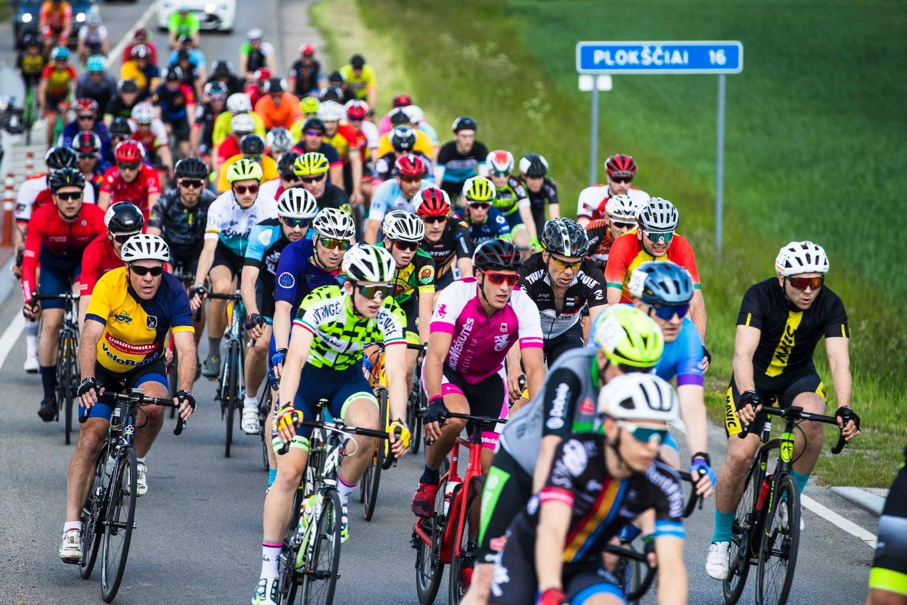 Dviračių lenktynės Šakių rajone