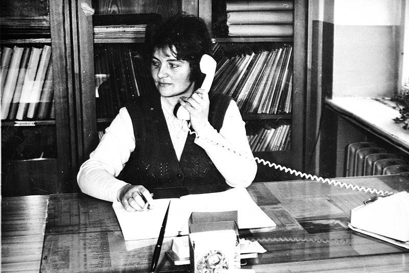 Archyvo vedėja J. Švirinienė 1975 m.