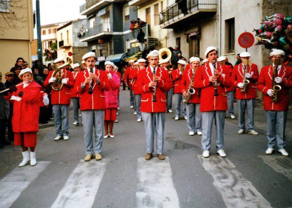 Pučiamųjų orkestras Graikijoje Lefkados saloje 1993 m.