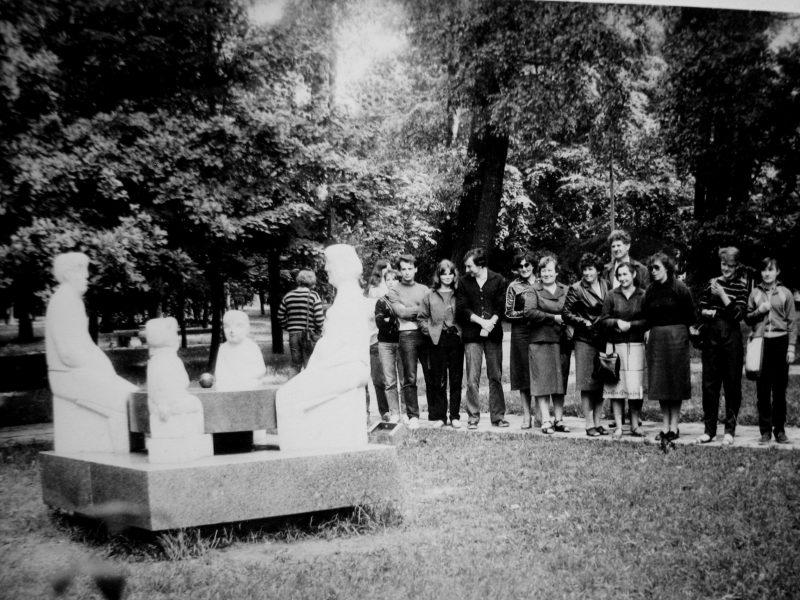 Ekskursija Klaipėdoje 1985 m. Mūsų gidas K. Zimkus antras iš dešinės