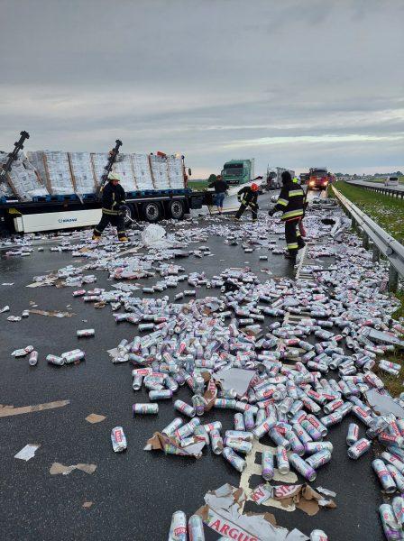 eismo įvykis vilkikai avarija