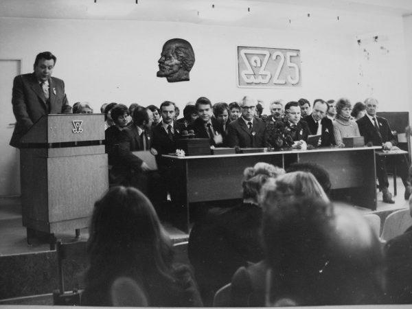 SKB 25-metis 1984 m. pasitinkamas jau naujose patalpose