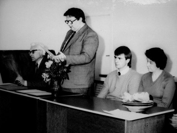 1988 m. šventes švenčiame jau su SKB viršininku E. Budrevičium