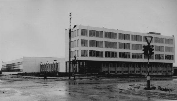 Ką tik užbaigtos SKB statybos vaizdas 1984 m. pradžioje