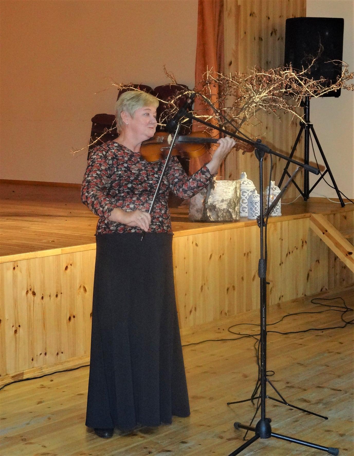Smuikininkė R. Gliaubicienė
