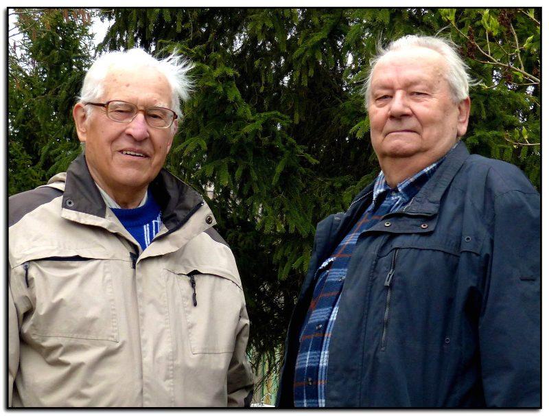 Pranciškus Jokimaitis (kairėje) ir Vladas Mickevičius